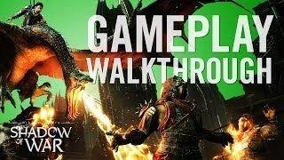 game  play nhá hàng đầu tiên của shadow of war có rất nhiều đổi mới bao gồm chiếm thành và tạo dựng cả...